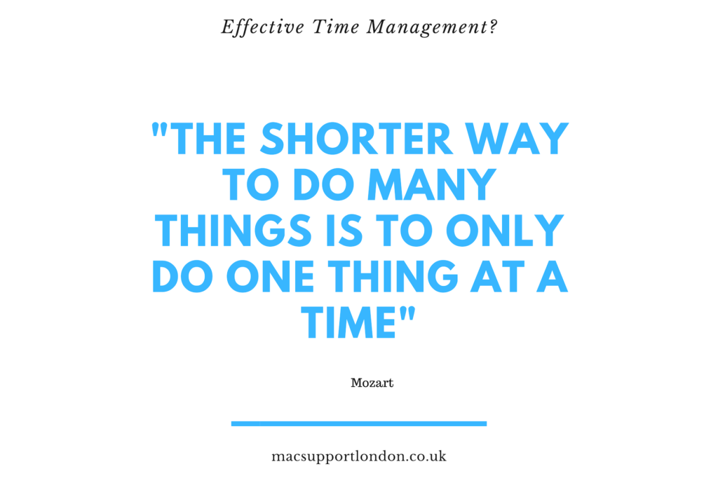 Quote by Mozart on Effective Time Management